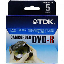 TDK Mini DVD-R 1.4GB 2x 30 Min.DVD-R/RW Disc (5-Pack)