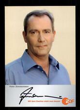 Peter Zimmermann ZDF autografiada mapa original firmado # bc 98534