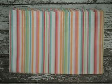 POTTERY BARN TEEN Wahine Stripe Twin Flat Sheet Blue Green Orange Pink