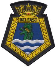 HMS Belfast Royal Navy RN Surface Fleet Crest MOD Embroidered Patch