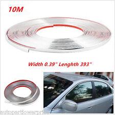 10m Car SUV Bumper Door Edge Lip Guard Chrome Deco Protector Moulding Strip Trim