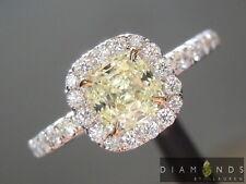 .74ct W-X IF Cushion Cut Diamond Halo Ring GIA R6013 Diamonds by Lauren
