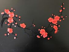 Sew on & iron on  patches(red plum flower )