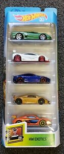 Hot Wheels HW Exotics 5 Pack Brand New