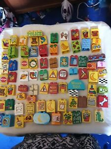 GENUINE LEGO DUPLO 80 PICTURE BRICKS BLOCKS MIXED PICTURES NUMBERS AND SIZES EYE