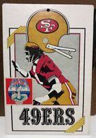 Rare Vintage 1974 San Francisco 49ers Cardboard Sign NFL FLEER BIG 8x11.5