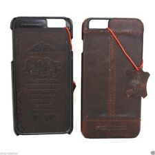genuine retro leather Case fit apple iphone 6 6s plus book wallet thin cover 6+