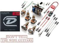 EMG Solderless Conversion Wiring Kit 3 Active Pickups LONG SHAFT POTS ( STRINGS)