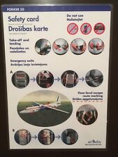 Safety Card / AIR BALTIC / FOKKER-50 /