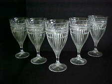 LIBBEY GLASS WATER GOBLETS-FIVE (5)-PRE-OWNED