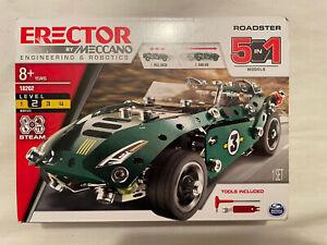 Meccano Erector Roadster 5 in 1 Set #18202 Level 2 Sealed Pull Back Action Model