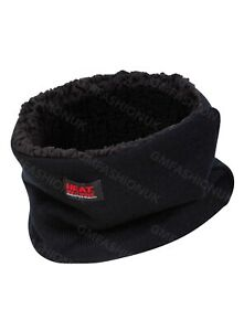 Fleece Snood Sherpa Neck Warmer Face Mask Adults Black Thermal Scarf Face Cover
