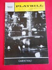 Dec. 11 - 1961 - Imperial Theatre Playbill - Carnival - Anita Gillette