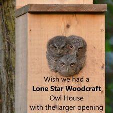 Veteran made Owl Nesting Box - Screech Owl House