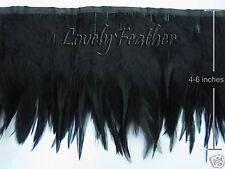 Hackle feather fringe of black color 50 metre ribbon trim