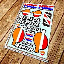 Repsol HRC motorbike decal set 18 stickers motorcycle honda cbr 600rr 1000rr