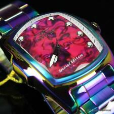 Men's Invicta Grand Lupah Purple Abalone Iridescent Stainless Steel Watch New