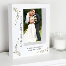 Personalised - Wedding Picture Photo Box Frame Anniversary Gift Can be Wall Hung