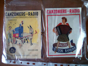 riviste canzoniere della radio anni 40 (vedere elenco con prezzi)