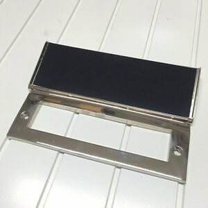 POLISHED NICKEL INTERNAL LETTERBOX TIDY DRAIGHT EXCLUDER (*ATC)