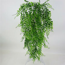 1PC Artificial Plants Hanging Ivy Leaves Fake Macrame In Pots Fern Succulent