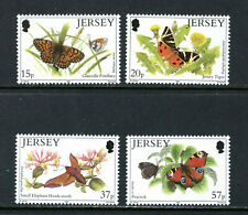 JERSEY 568-71, 1991 BUTTERFLIES AND MOTHS, MNH (JER081)
