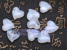 New DIY 16mm Lampwork Glass Loose Heart Shape Charms Spacer Jewelry Making Beads