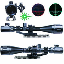 Hunting 6-24X50AO Rifle Scope Illuminated w/ Green Laser Sight & PEPR Rail Mount