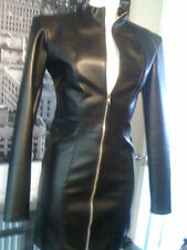 THE FEDERATION FAUX LEATHER JACKET STYLE DRESS ALL SIZES  PLUS SIZES