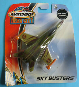 | NEW | Matchbox SKY BUSTERS Hero City I••ATTACK JET™••I METAL Die Cast Plane |