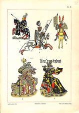 32° Ströhl Heraldischer Atlas héraldique blasons Chevalerie chevaliers 1899