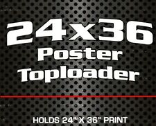 2 New Bcw 24x36 Movie Poster Toploaders Protectors Lot