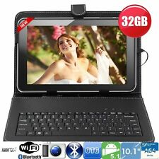 "32GB 10""Inch A64 Quad Core Android Tablet Pc + Keyboard Bundle Google Play Hdmi."