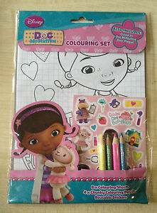 DISNEY DOC MC STUFFINS COLOURING SET-COLOURING PENCILS, SHEETS AND STICKERS