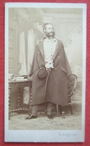 CDV-Foto Albumin General Ludwig Karl Wilhelm von Gablenz Porträt Angerer 1864
