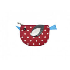 Earth Squared Linen Spot Chicken Purse - Red - BNWT - Was £7.99