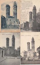 Lot 4 cartes postales anciennes MACON vieux saint-vincent