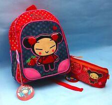 CUTE PUCCA BACK PACK BAG & PENCIL CASE girls school bag rucksack character