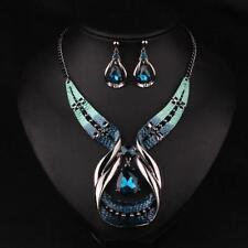 Jewelry Pendant Necklace Statement Bib Chain Fashion Choker Women Crystal Chunky