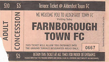 Aldershot Football Non-League Fixture Tickets & Stubs