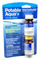 Potable Aqua Iodine Germicidal Water Purification w/ PA+ Plus 50-Tablets of Each