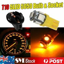 6 x T10 Led Wedge 5SMD 5050 W/Protective Sockets Door Courtesy Interior Lights