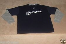 Milwaukee Brewers Long Sleeve T-Shirt Men's 6X New Majestic MLB Baseball 6XL