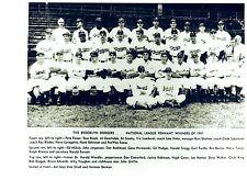 1947 BROOKLYN DODGERS  ROOKIE ROBINSON TEAM 8X10 PHOTO BASEBALL HOF
