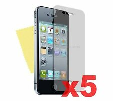5 x FRONT MATTE ANTI GLARE LCD SCREEN PROTECTOR GUARD FOR APPLE IPHONE 4/4G/4S
