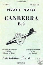 ENGLISH ELECTRIC CANBERRA B.2 -  PILOT'S NOTES