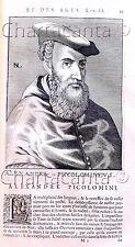 1682 SIENA ALESSANDRO PICCOLOMINI ISAAC BULLART CON TESTO