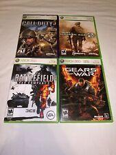 4-Pack Shooters: COD3-COD MW2-Battlefield 2-Gears of War Xbox 360-CIB COMPLETE!