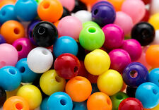 150 PCS GUMBALL BEADS 6MM ACRYLIC ROUND BEAD CRAFT BUBBLE GUM CHUNKY NECKLACE