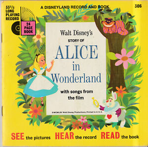 Walt Disney's Story of ALICE IN WONDERLAND with Songs 33 1/3 Long Play Record. 1